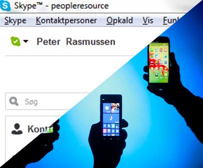 Skype og telefon